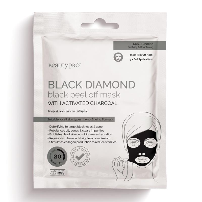 BeautyPro 黑钻活性炭去角质面膜 3 x 7g