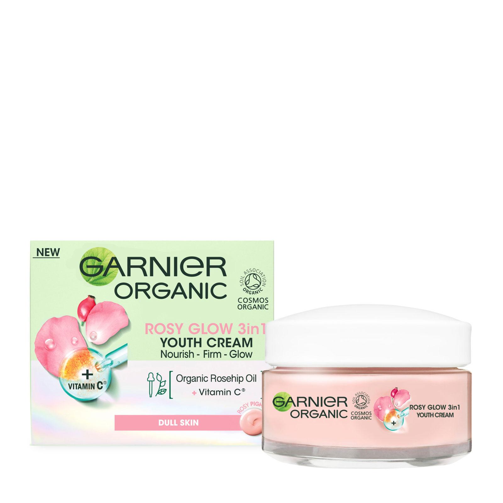 Garnier 卡尼尔 有机玫瑰三合一青春亮颜面霜 50ml