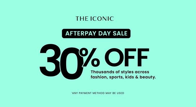 THE ICONIC官网AFTERPAY DAY千款时尚运动美妆等单品7折活动