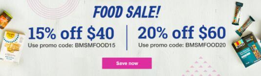 美国Vitacost官网全场食品系列,满$40立减$15/满$60立减$20